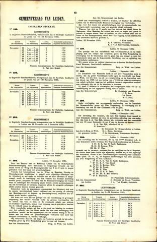 Handelingen van de Raad 1885-11-15