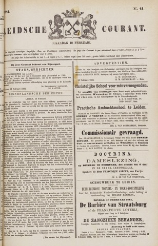 Leydse Courant 1884-02-18