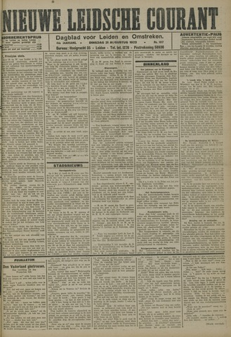 Nieuwe Leidsche Courant 1923-08-21