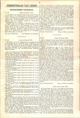 Handelingen van de Raad 1915-01-13