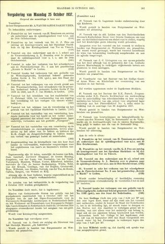 Handelingen van de Raad 1937-10-25