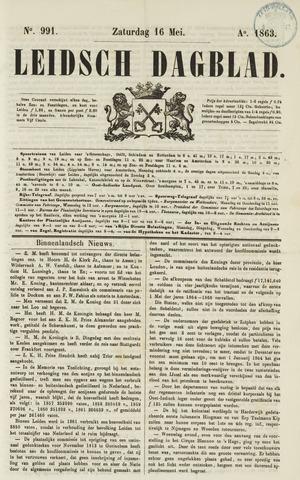 Leidsch Dagblad 1863-05-16