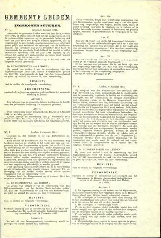 Handelingen van de Raad 1944-01-06