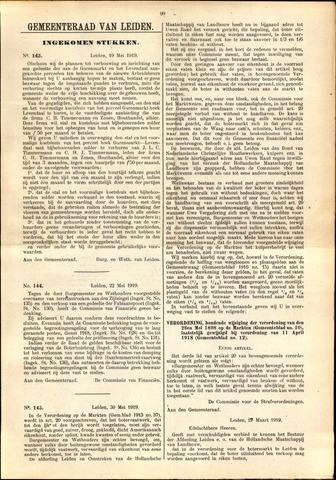 Handelingen van de Raad 1919-05-19