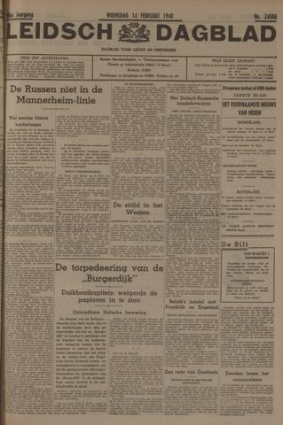 Leidsch Dagblad 1940-02-14
