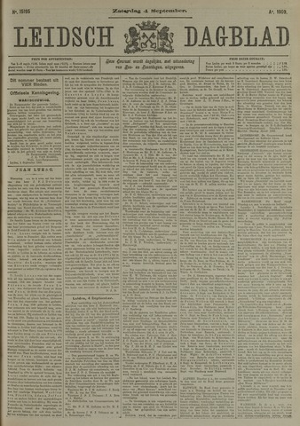 Leidsch Dagblad 1909-09-04