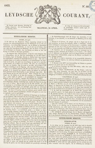 Leydse Courant 1853-04-25