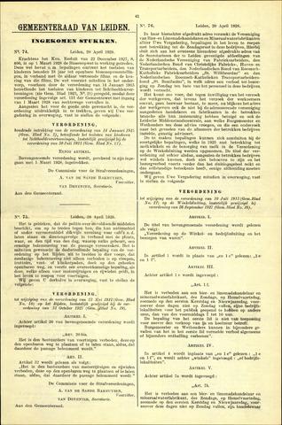 Handelingen van de Raad 1928-04-20
