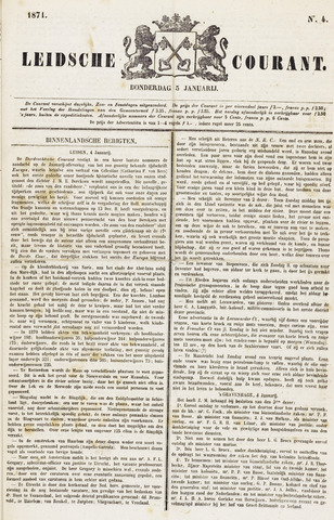 Leydse Courant 1871-01-05
