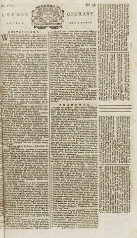 Leydse Courant 1822-03-29