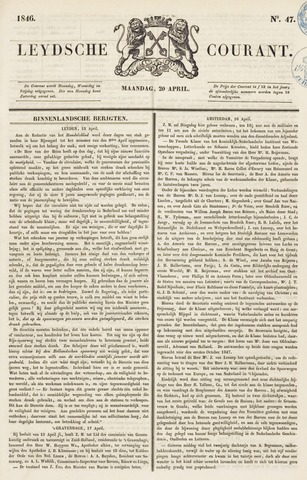 Leydse Courant 1846-04-20