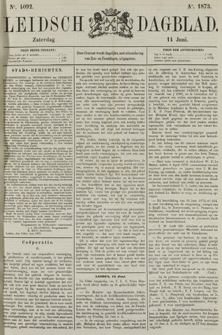 Leidsch Dagblad 1873-06-14