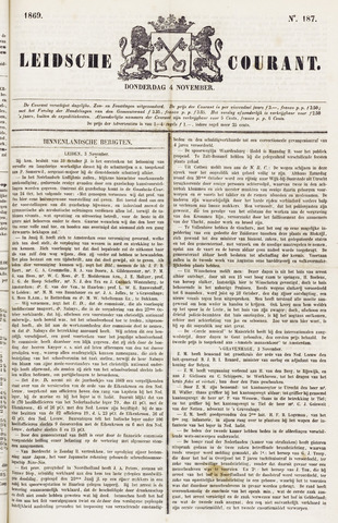 Leydse Courant 1869-11-04
