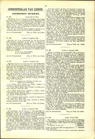 Handelingen van de Raad 1904-07-22
