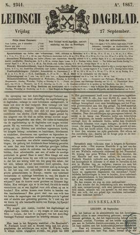 Leidsch Dagblad 1867-09-27