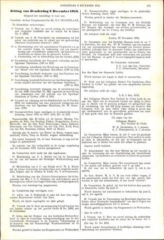 Handelingen van de Raad 1915-12-02