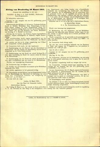 Handelingen van de Raad 1911-03-16