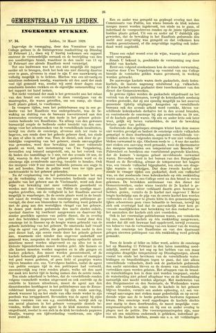 Handelingen van de Raad 1929-03-14
