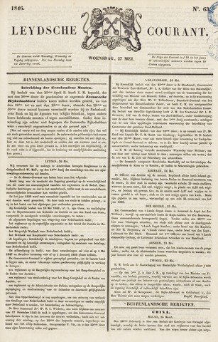 Leydse Courant 1846-05-27