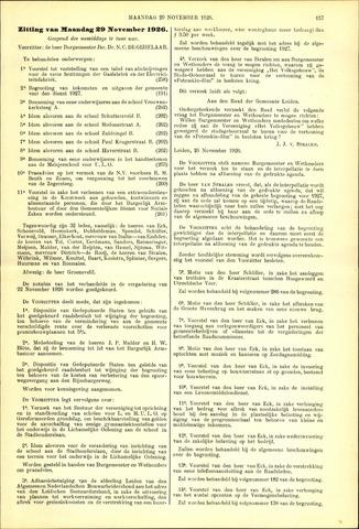 Handelingen van de Raad 1926-11-29