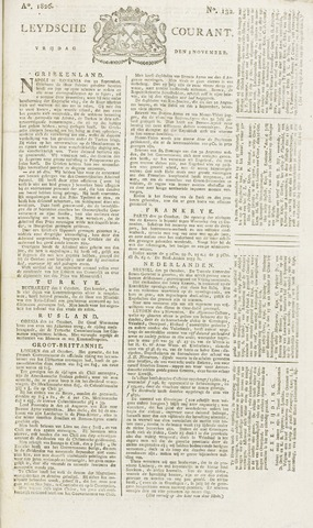 Leydse Courant 1826-11-03