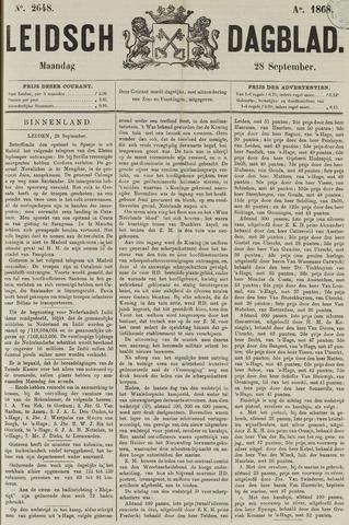 Leidsch Dagblad 1868-09-28