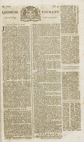 Leydse Courant 1826-03-29
