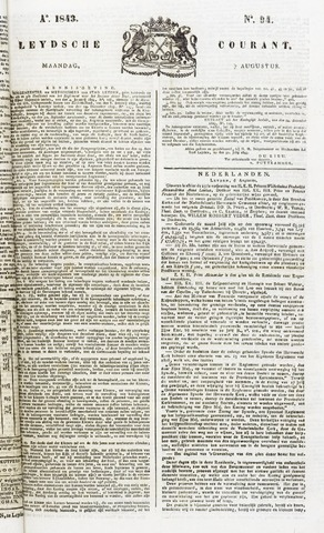 Leydse Courant 1843-08-07