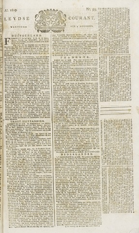 Leydse Courant 1819-08-04