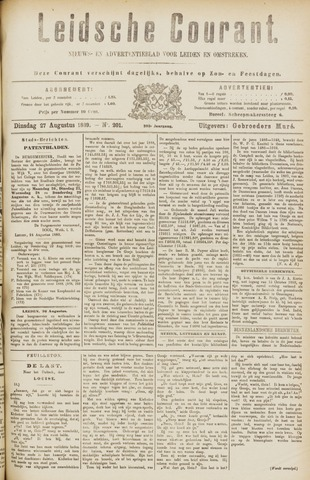Leydse Courant 1889-08-27
