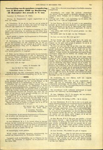 Handelingen van de Raad 1920-12-16