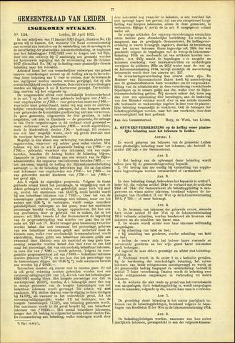 Handelingen van de Raad 1921-04-28