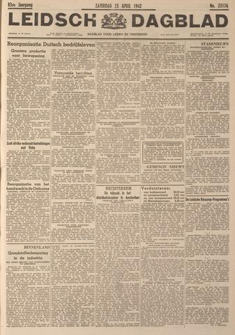 Leidsch Dagblad 1942-04-25