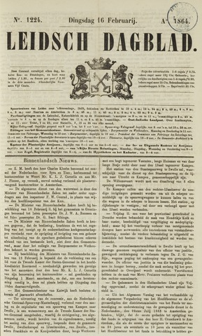 Leidsch Dagblad 1864-02-16