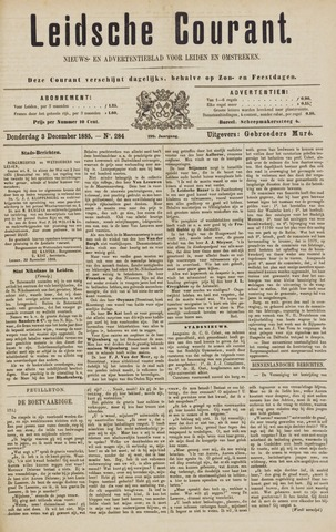 Leydse Courant 1885-12-03
