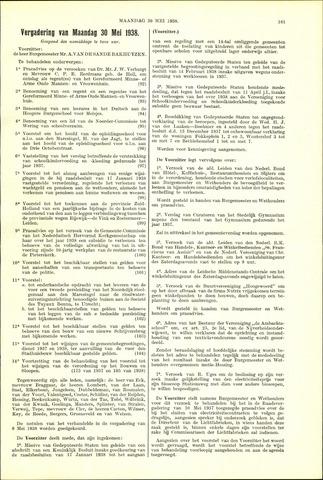 Handelingen van de Raad 1938-05-30