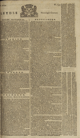 Leydse Courant 1754-11-11