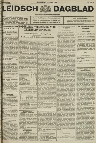 Leidsch Dagblad 1932-04-28