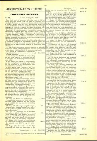 Handelingen van de Raad 1925-08-18