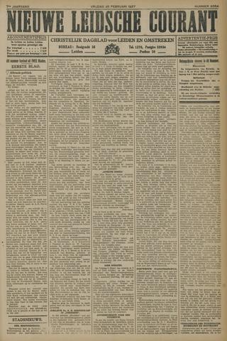 Nieuwe Leidsche Courant 1927-02-25
