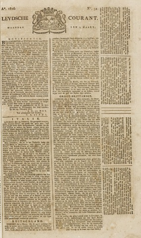 Leydse Courant 1826-03-13
