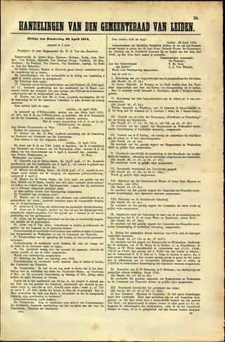 Handelingen van de Raad 1874-04-30