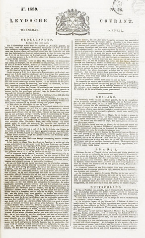 Leydse Courant 1839-04-17