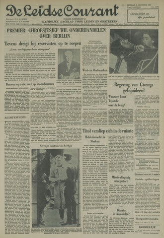 Leidse Courant 1961-08-08