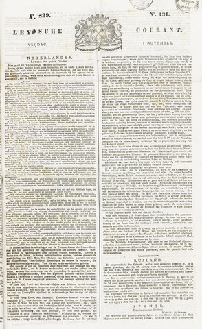 Leydse Courant 1839-11-01