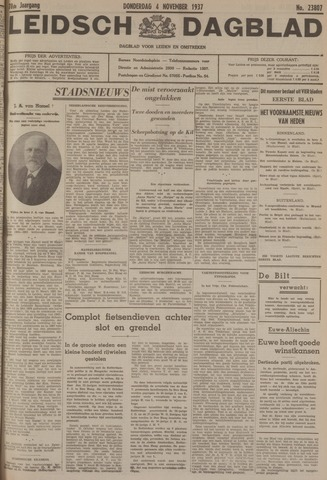 Leidsch Dagblad 1937-11-04