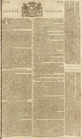 Leydse Courant 1773-10-22