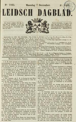 Leidsch Dagblad 1863-12-07