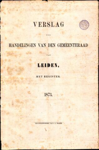 Handelingen van de Raad 1873-01-01