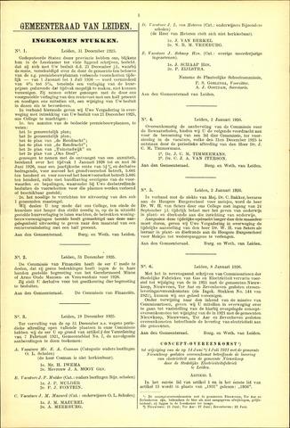 Handelingen van de Raad 1925-12-31